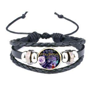 Harry Potter- Deathly Hallows Leather Tie Bracelet